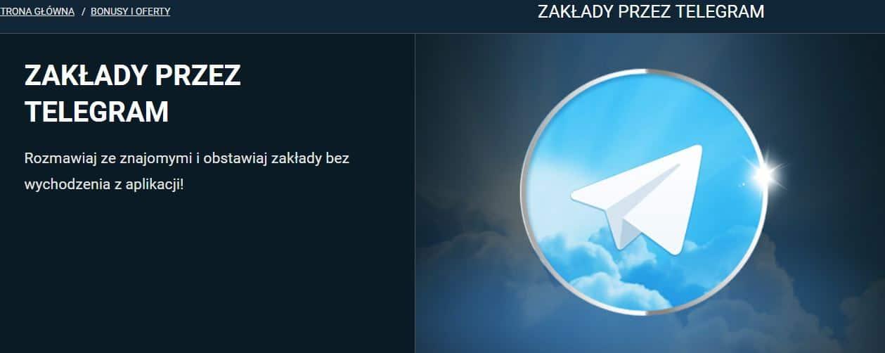 obstawianie przez Telegram
