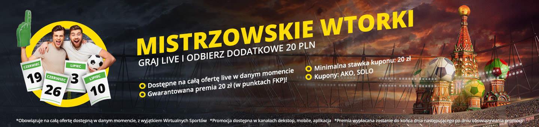 Mistrzowskie wtorki MŚ 2018 Fortuna