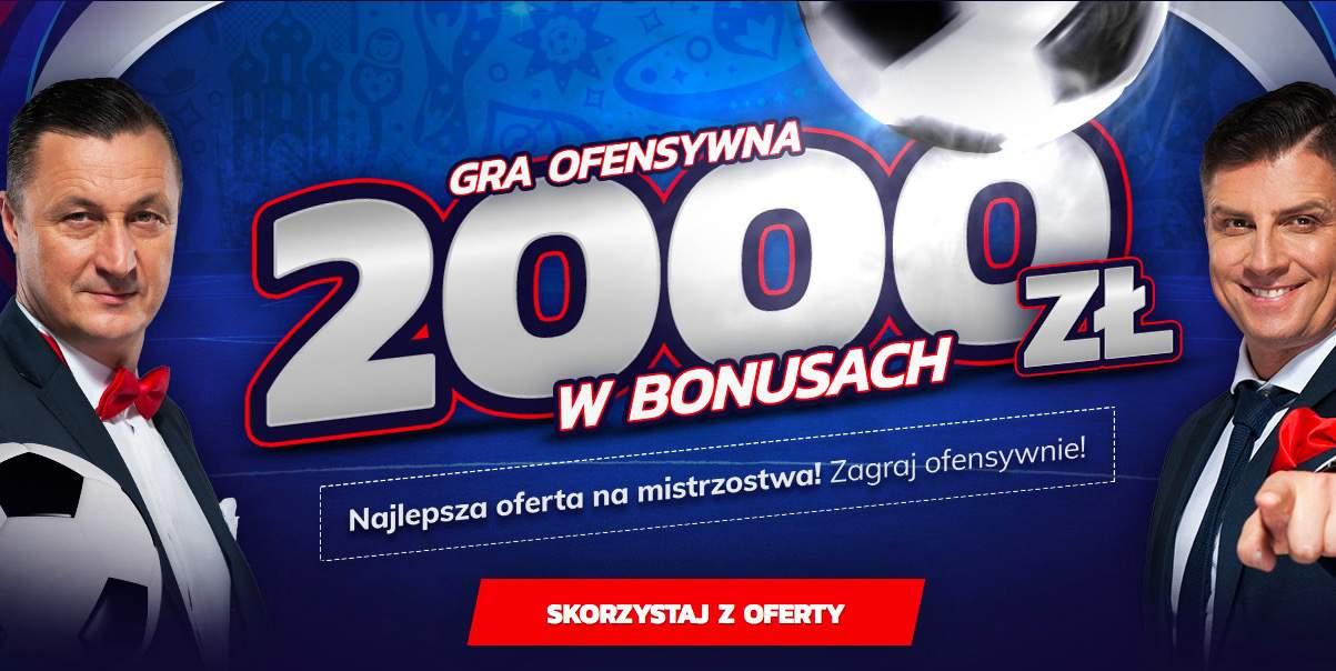 Graj ofensywnie z eToto. 2000 PLN bonusu!