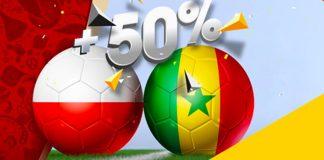 Większe wygrane na mecz Polska - Senegal!