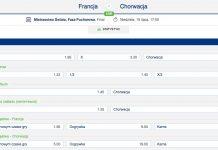 Specjalne bonusy na Francja - Chorwacja