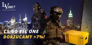 CS:GO ESL ONE z bonusem 7% u bukmachera LV BET!