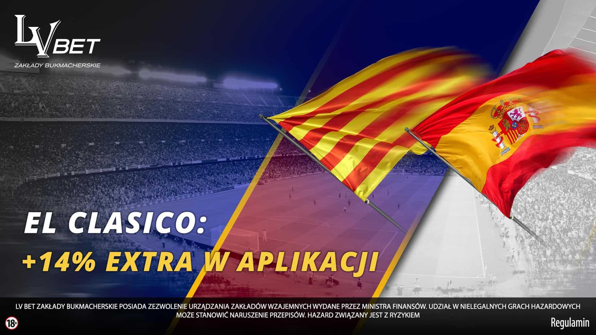LvBET powiększa wygrane na Barcelona - Real!