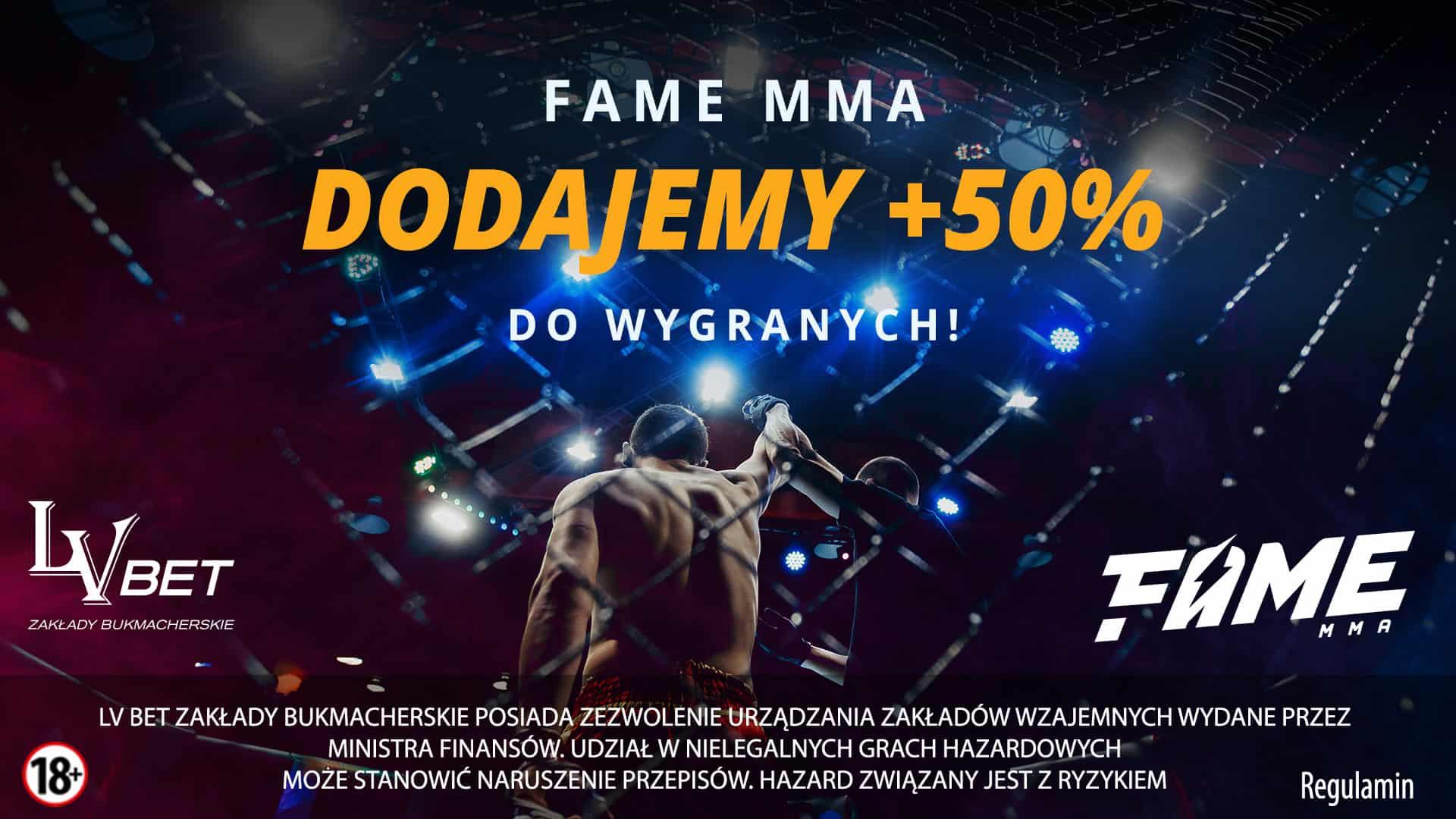 Photo of Promocja od LV BET na FAME MMA 2!