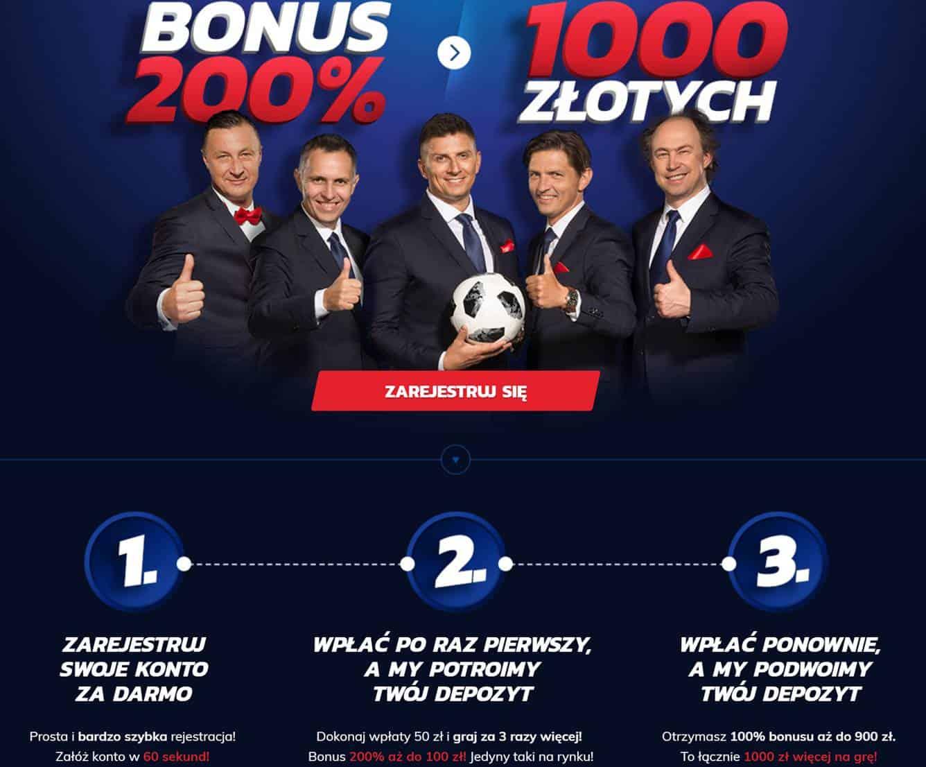 Nowy bonus powitalny Etoto. 200% do 1000 PLN!Nowy bonus powitalny Etoto. 200% do 1000 PLN!