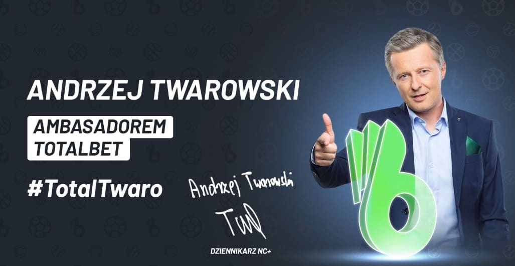 Twarowski pierwszym ambasadorem marki TotalBET!