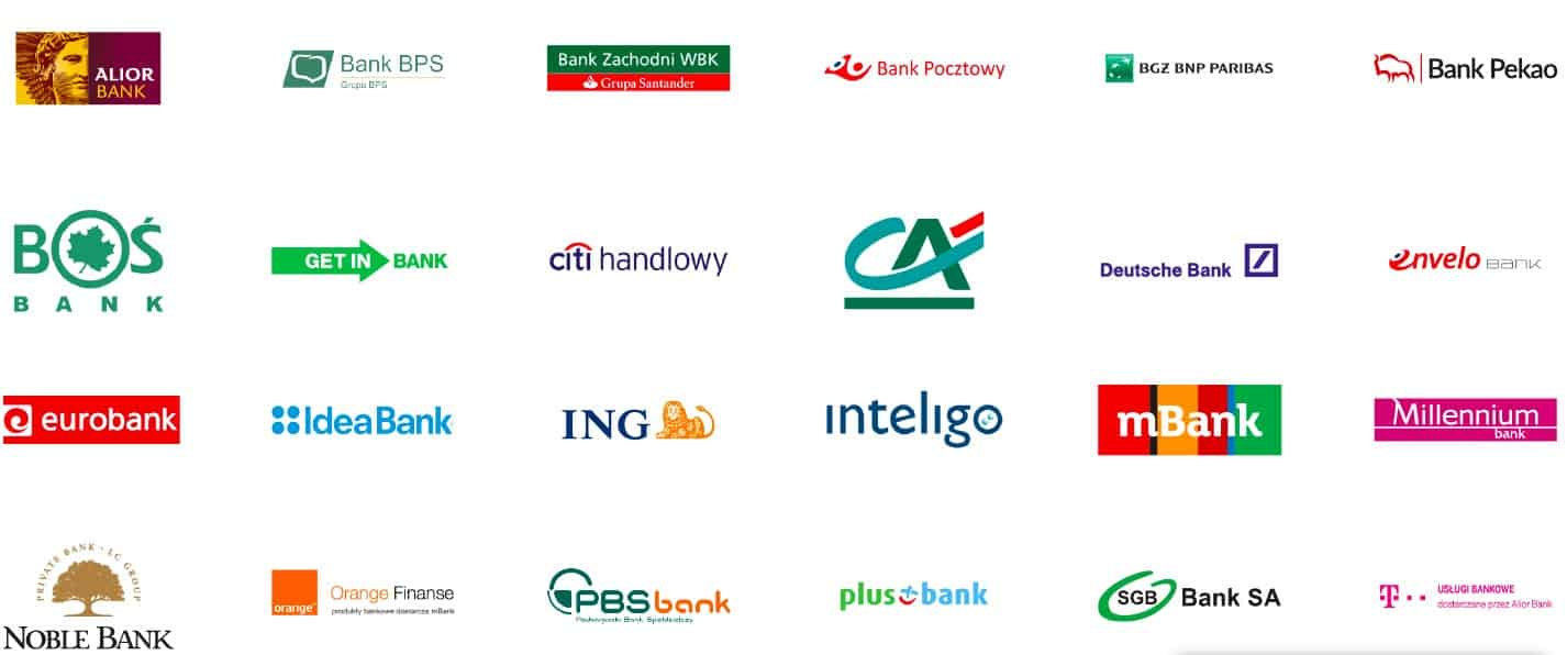 Banki akceptowane u większości bukmacherów