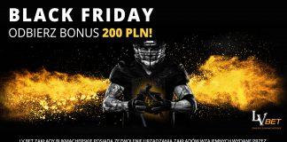 Bonus 200 PLN w LvBET na Black Friday!
