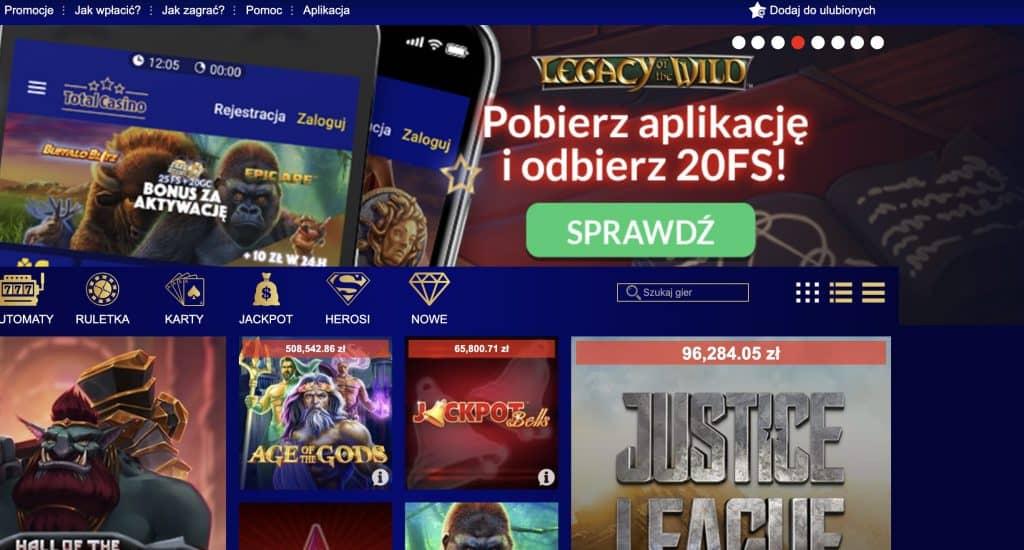 Legalne kasyno online TotalCasino - opinie, podatek bonusy 2019