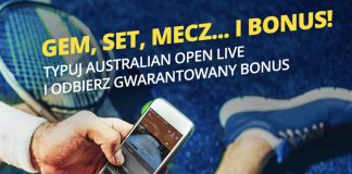Fortuna z bonusem 20 PLN na Australian Open 2019!