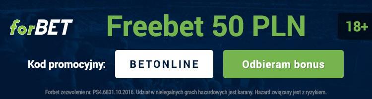 """forbet kod promocyjny. Freebet 50 PLN - kod """"BETONLINE"""""""