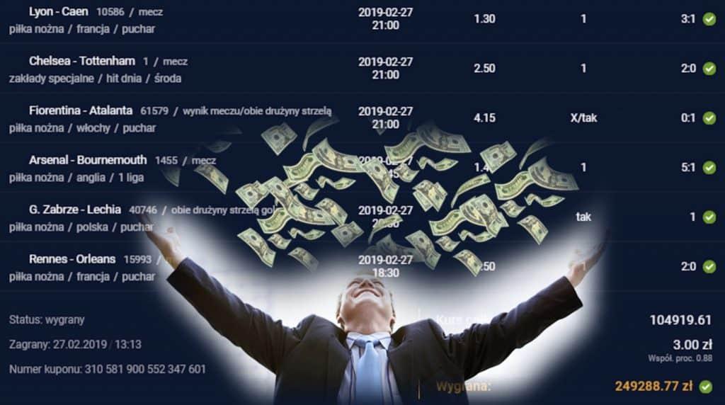 Klient STS wygrał 1.25 mln złotych! Zobacz, na co postawił!