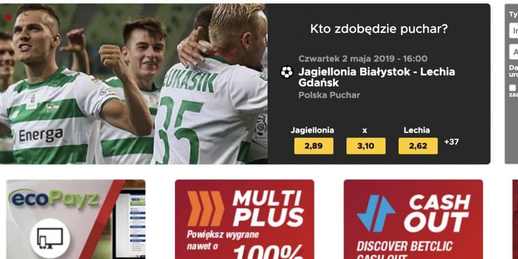 BetClic Polska. Strona główna