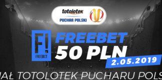 Freebet Totolotek Puchar Polski. 50 PLN dla wszystkich!