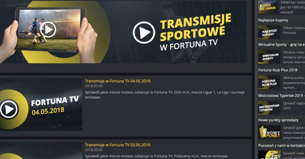 Fortuna TV transmisje online