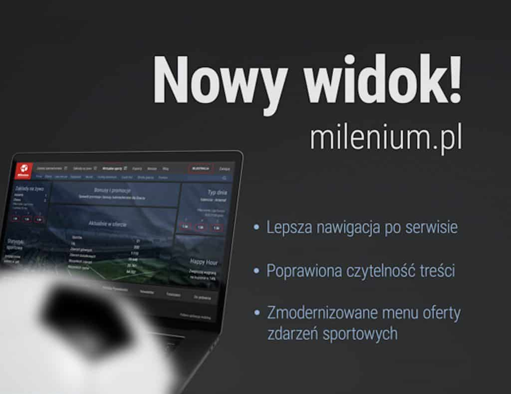bukmacher milenium nowa strona internetowa