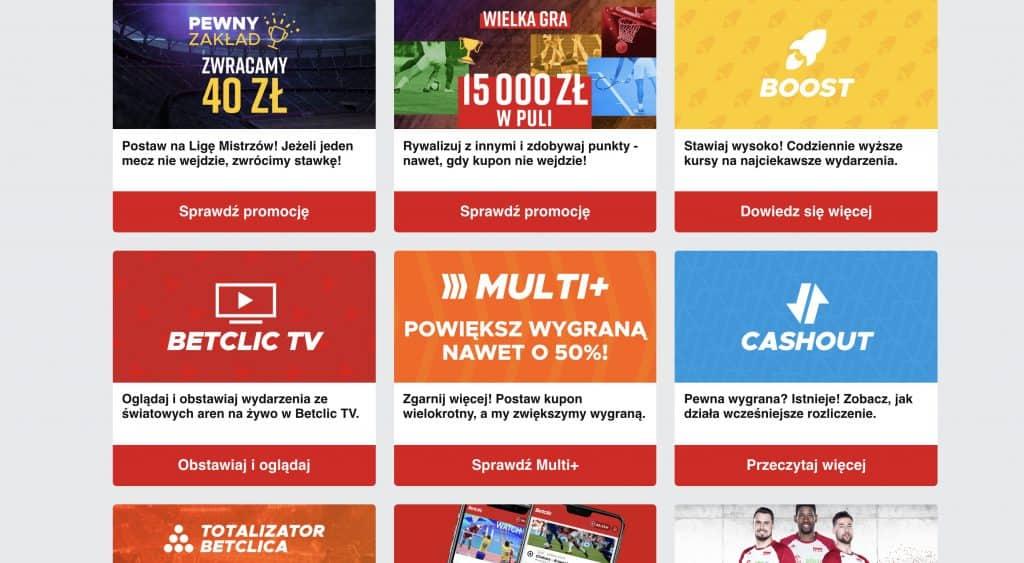 Promocje dla graczy Betclic.pl