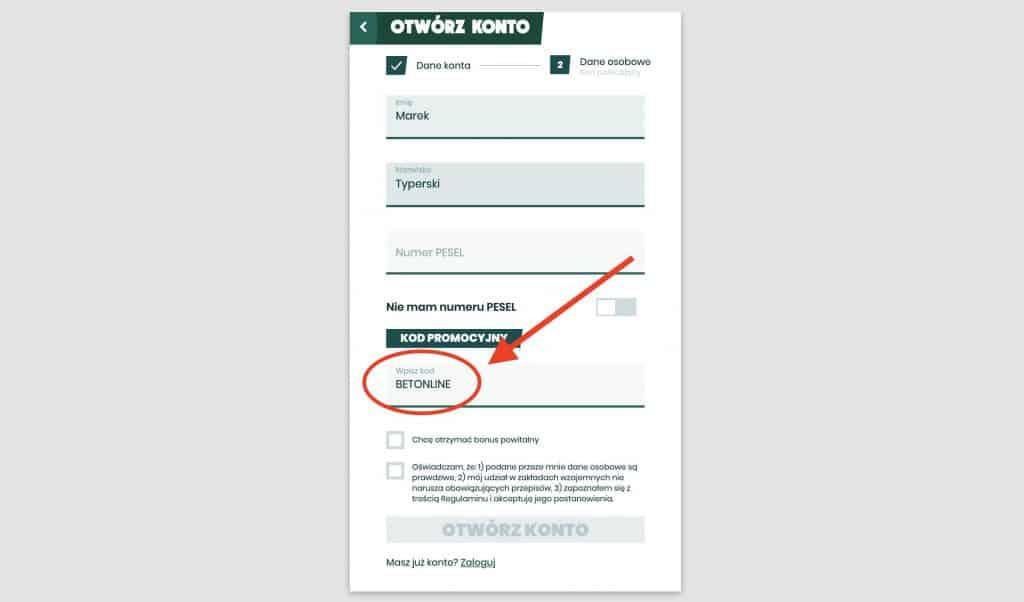 Rejestracja w Betfan