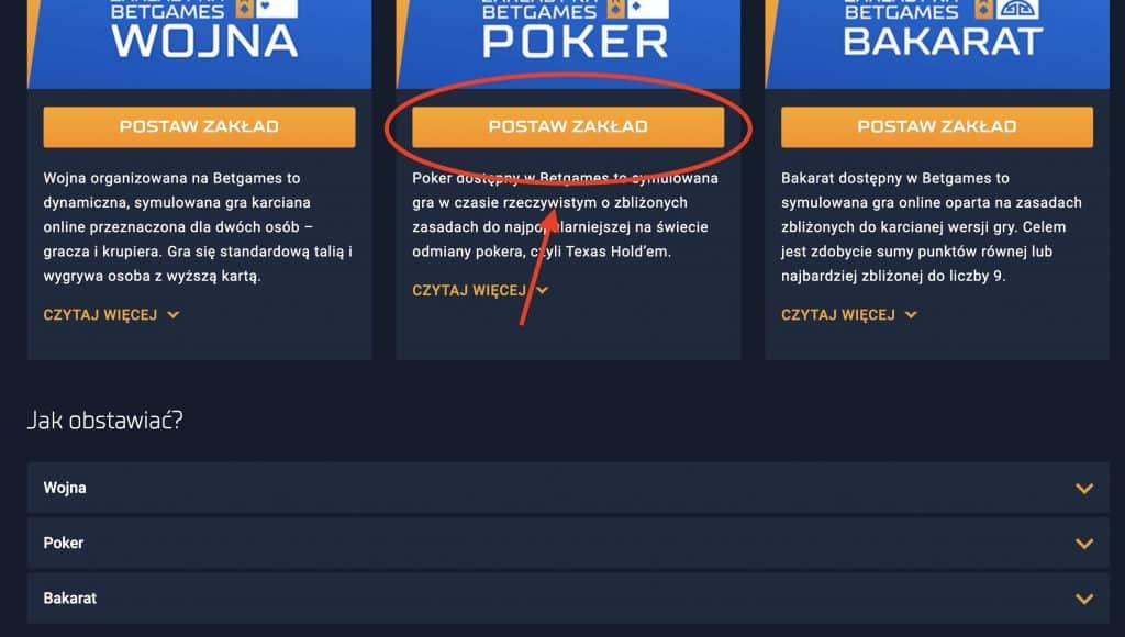 STS Poker. Jak grać? KROK 2
