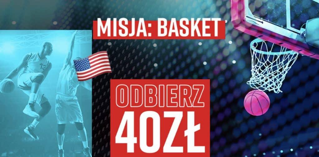 """Bonus 40 PLN na NBA w Betclic Polska. Przedstawiamy promocję """"Misja: Basket""""!"""