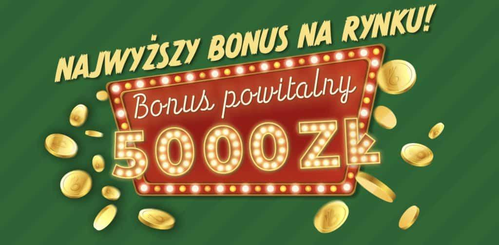 Najwyższy bonus powitalny teraz w Totalbet. Na start 5000 PLN!