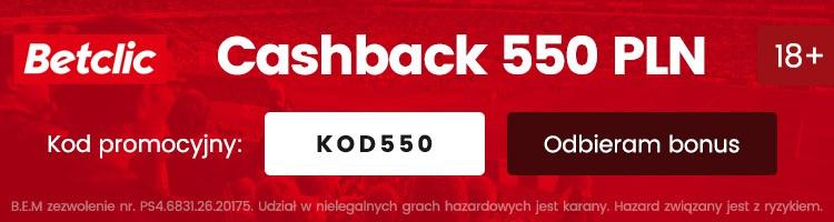 bukmacher betclic polska bonus 550