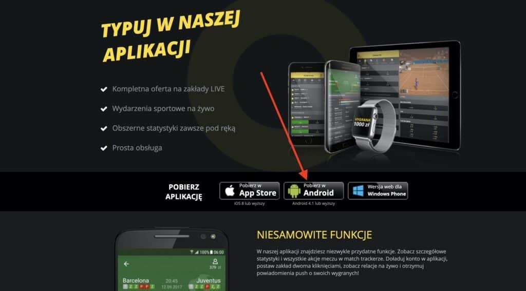 Fortuna apk pobierz - Krok 2
